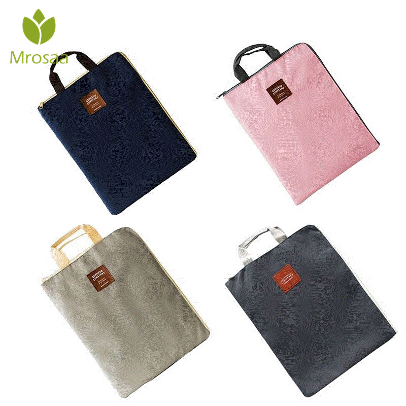 Document Holder Folder Storage Fabric Pouch Package For A4 Paper Portable Pocket Bill Pouch File Folder Office & School Supplies