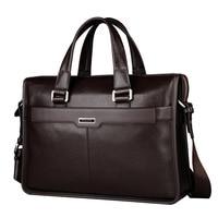 New Genuine Leather Men Handbags Men S Business Briefcase Laptop Bag Luxury Soft Skin Bags Of