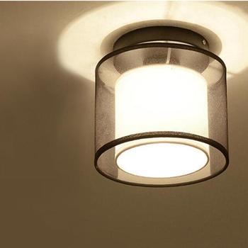Moderne Decke Lichter Hause Beleuchtung Dia 19 cm Stoff Schatten ...