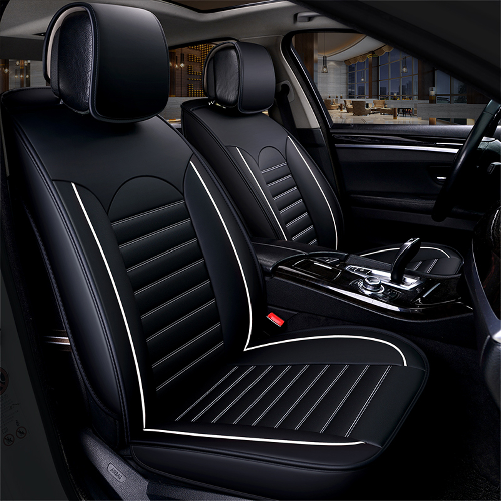 Image 2 - KKMOON Universal 1pc PU Leather Car auto Seat Cover car styling Accessories Cushion autocovers with Tire Track for cars styling-in Automobiles Seat Covers from Automobiles & Motorcycles