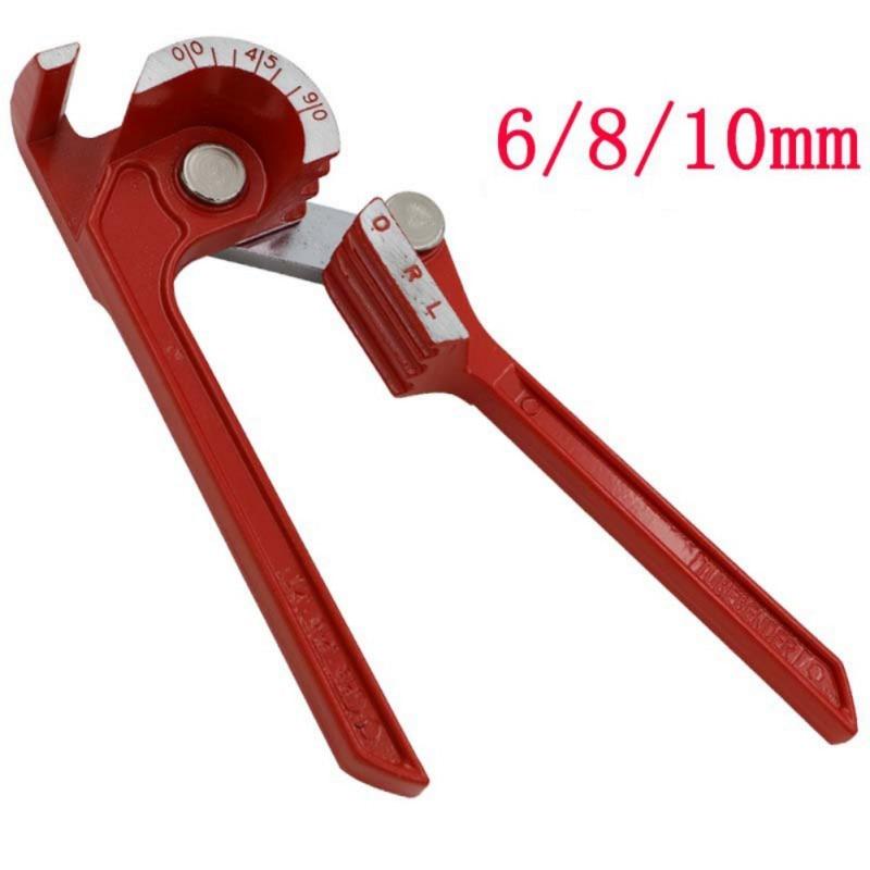 6/8/10mm Professional Manual Pipe Bender Adjustable 3In1 Aluminum Copper Pipe Bender Steel Fuel Brake Line Tubing Bending Tool