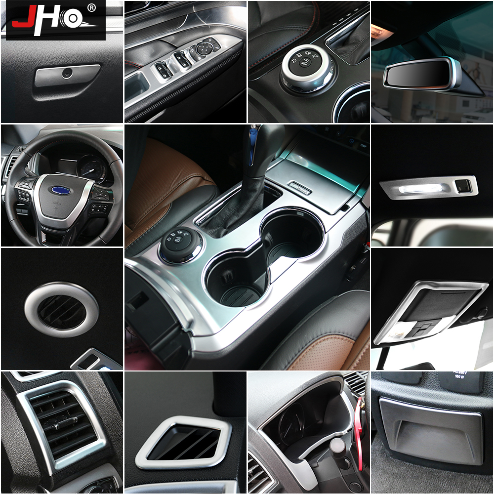 Wood ABS Steering Wheel Panel Moulding Cover Trim For Ford F150 2015 2016-2018
