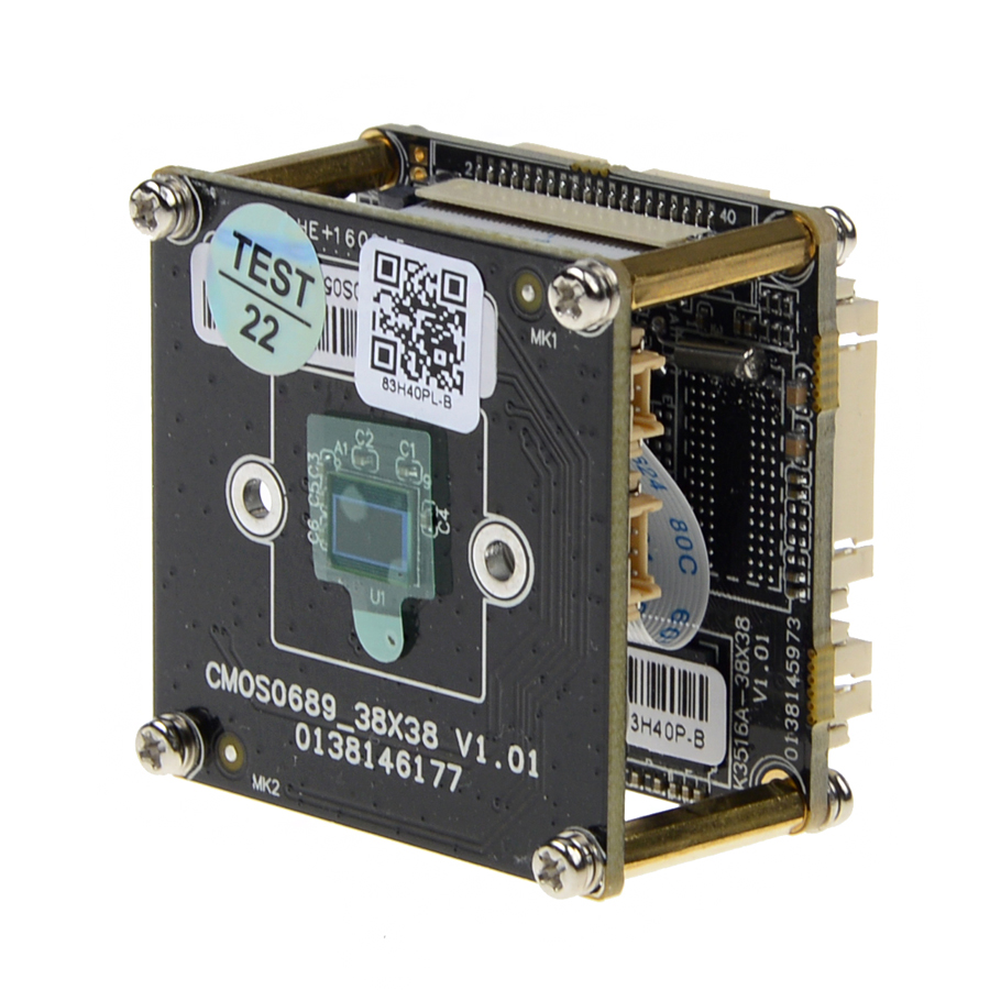 SSICON H.265/H.264 4MP IP Camera Board Module <font><b>HI3516D</b></font> + 1/3'' OV4689 CMOS DWDR ONVIF 4Megapixel CCTV Camera Chipset image