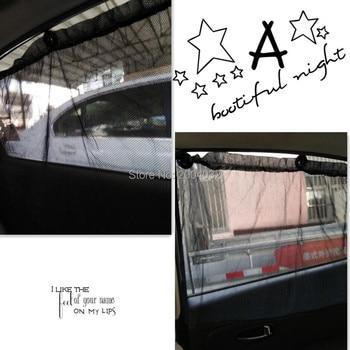 2 unids/set coche Diseño Interior protector solar cortinas para Audi A4 B5 B6 B8 A6 C5 C6 A3 A5 Q3 Q5 Q7 BMW E46 E39 E90 E36 E60 E34 E30