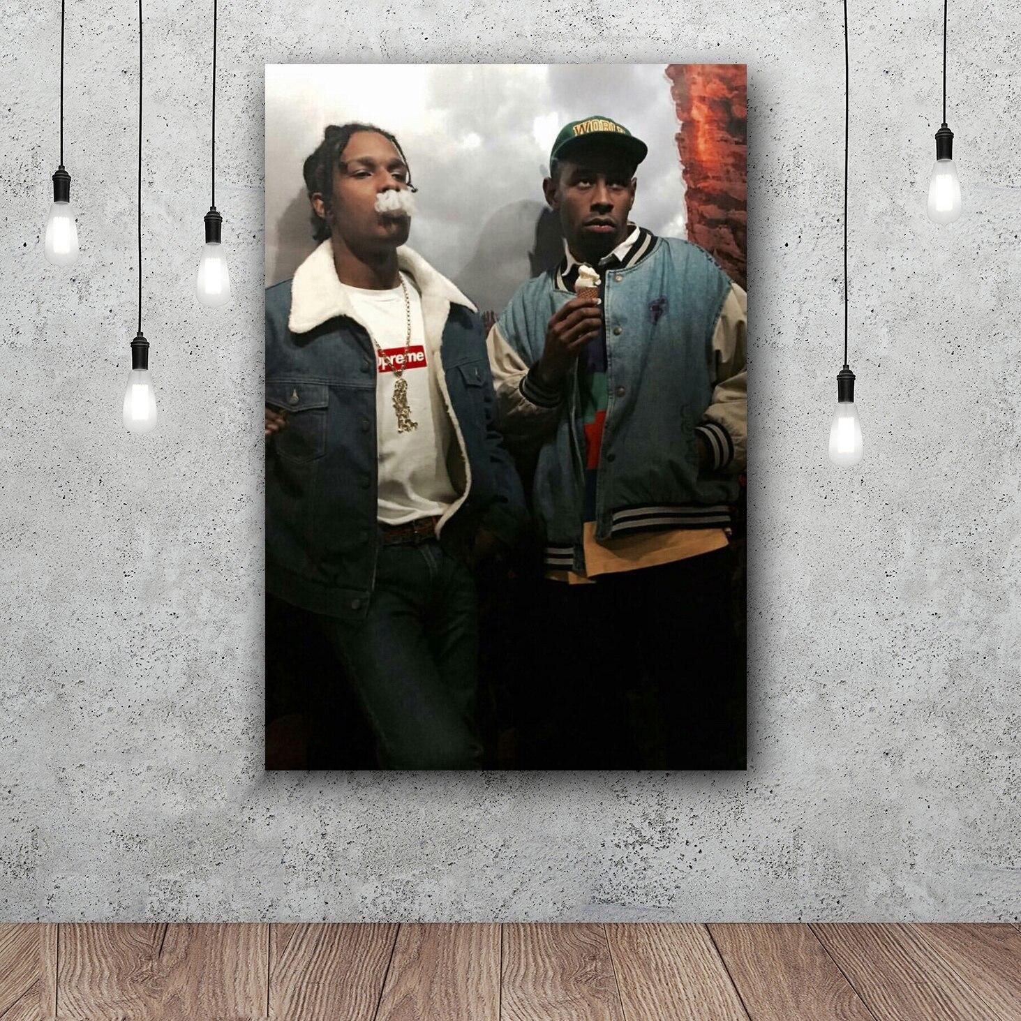 ASAP Rocky Und Tyler The Creator Art Silk Poster Wohnkultur 12x18 24x36 zoll