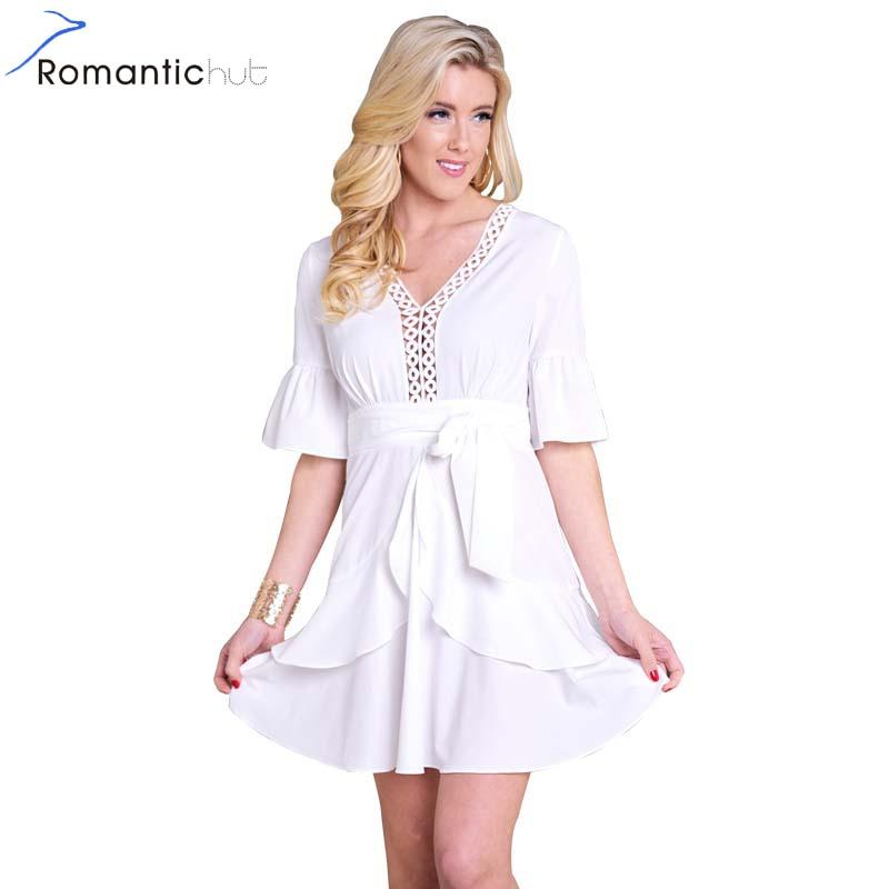 Fashion Dress Women In Hutt: Romantichut Chiffon White Dress Women Dresses 2018 Summer