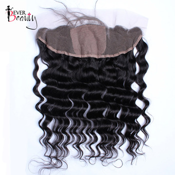 Loose Wave Silk Base Closure Brazilian 13X4 Lace Frontal Closures With Baby Hair Natural Hairline 8-20 inches Ever Beauty Remy
