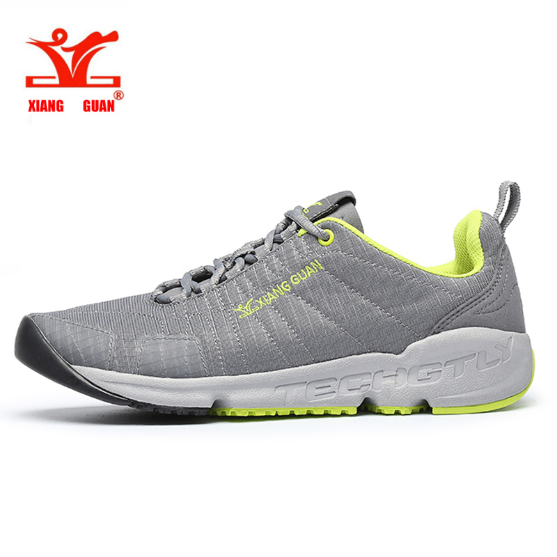 2017 XIANG GUAN Summer Men Trail Running Shoes Mesh Athletic Trainers Walking Breathable Man Outdoor Sports Sneakers size 36-45  summer running shoes mesh men walking camping shoes outdoor sport breathable running shoes
