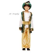 Детский костюм арабского принца для мальчиков; Карнавальный костюм Аладдина принца на Хэллоуин для детей; Карнавальные вечерние костюмы на день рождения и Рождество