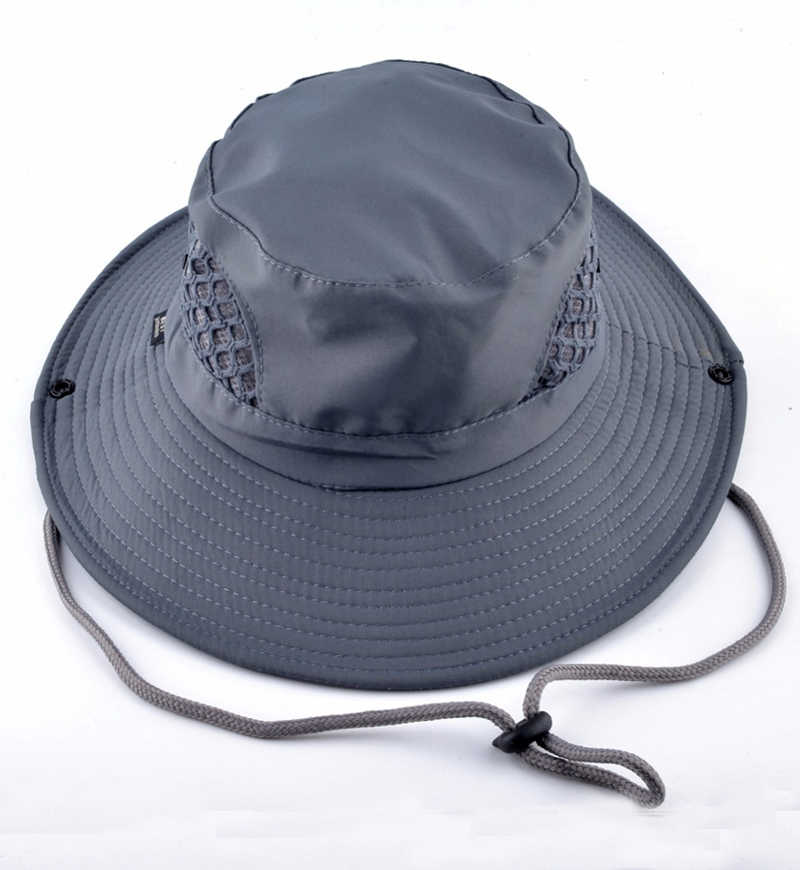 3b4e160f men's bob summer bucket hats caps hats fishing uv protection cap wide brim  fishing hats