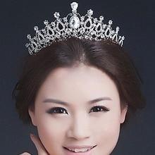 Elegant Wedding Bridal Bridesmaid Jewelry Tiara Crown Headband Girls Crystal Rhinestone Hair Jewelery Accessories For Women