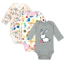 3pieces lot Autumn 100 Cotton font b Baby b font Bodysuit Newborn Cotton Body font b
