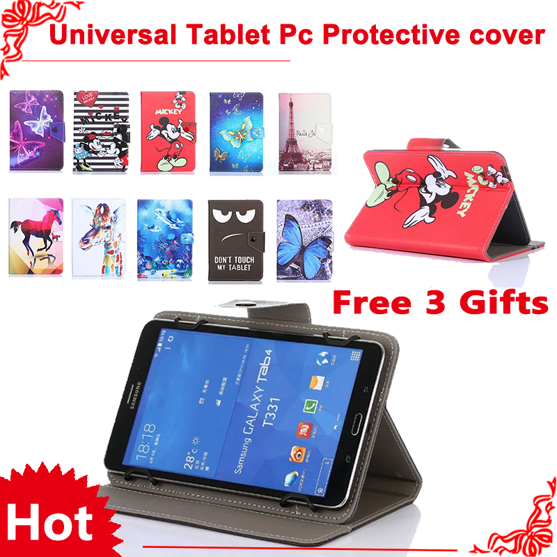 For Digma Plane 10.3/10.1 Optima 10.1/10.2 3G 10.1 inch Universal Tablet PU Leather Magnetic Cover Case 3 Gifts планшет digma plane 7012m 3g red ps7082mg