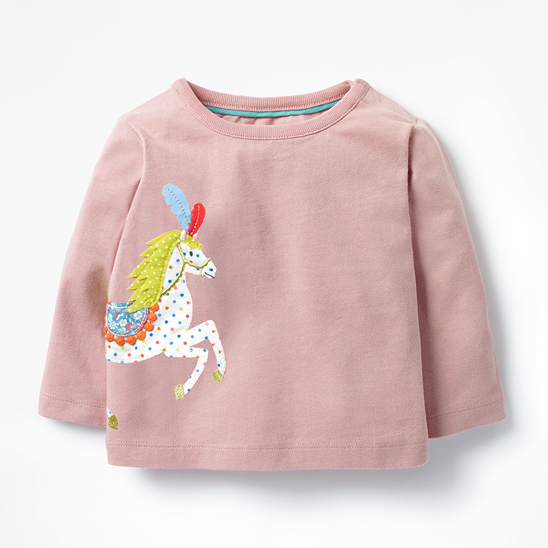 Baby T shirt Girls Tops Unicorn Clothes 2018 Brand Costume Kids T-shirts Fille Animal Pattern Children Sweatshirt Girl Tshirts
