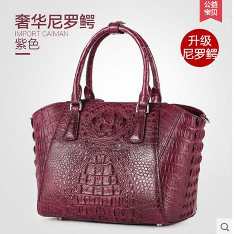 gete import Thailand really crocodile women handbag luxury leather Europe and the United States women bag кукла the united states and thailand ever after high