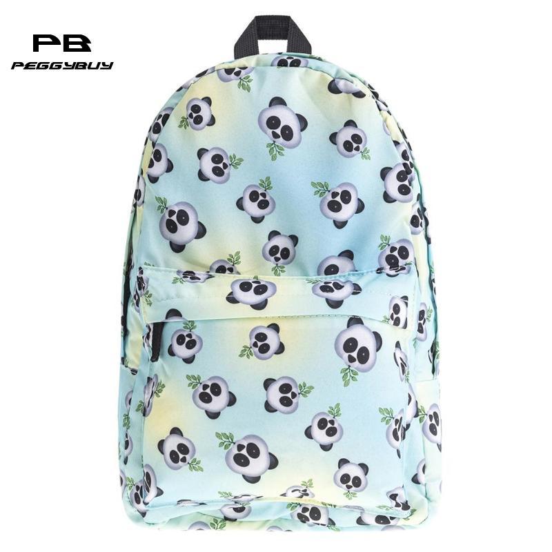 Panda Women Backpack 3D Printing Backpack Travel Soft Bag Notebook Bag Casual Backpack for Girls Boy Cute School Bagpack Mochila