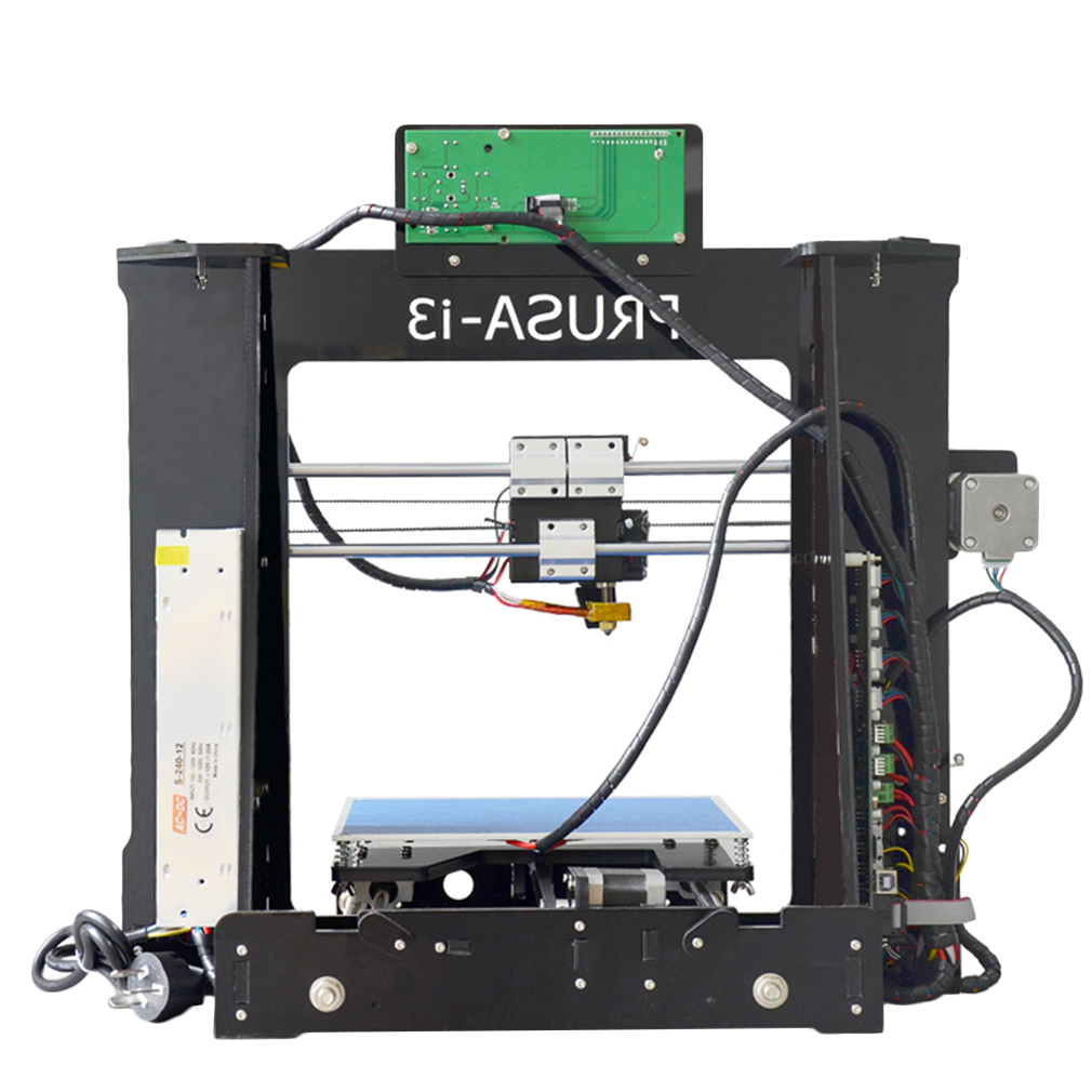 P802D LCD Screen 3D Printer Large Printing Area 220*220*180mm Acrylic Structure US Plug Black Great Gift