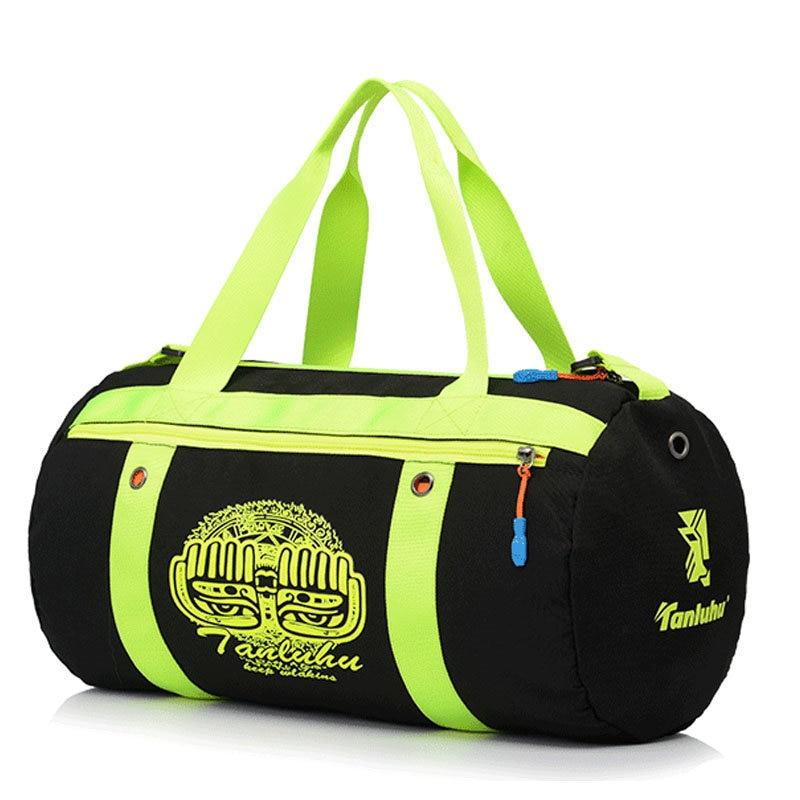 Tanluhu Brand Nylon Waterproof Ultralight Gym Bag Fitness Sport Bags Women Yoga Bag Printing Mens Travel Sports Handbag XA335WD