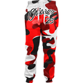 Chicago 23 Camo Joggers red and white camouflage design 3d Printed Jogger Sweatpants Women Men Hip-hop Full Length Trouser Pants