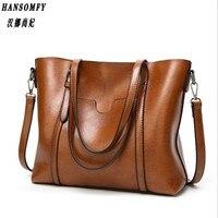 HNSF 100 Genuine Leather Women Handbags 2017 New Fashion Handbags Big Bag Wild Shoulder Messenger Bag