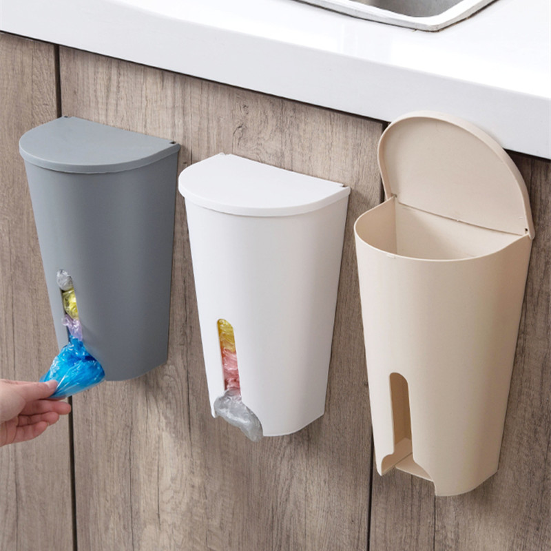LIYIMENG Home Garbage Bags Storage Rack Kitchen Bedroom Bathroom Garbage Bag Organizer Box Storage Holder Cupboard Door Case