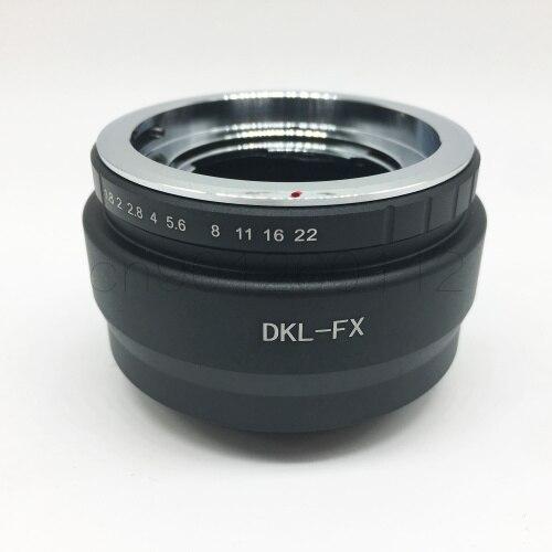 Deckel DKL adaptateur d'objectif bague pour fuji film fuji FX X-E2/X-E1/X-Pro1/X-M1/X-A2/X-A1/X-T1 xpro2 appareil photo 2 commandes