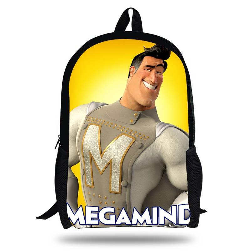 KOLLEGG 16 Inch Cartoon Megamind Printing Lapton Backpack Set For Children School Bags For Teenage Boys Girls Bookbag|School Bags|   - title=