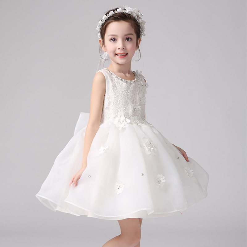 Gardlilac organza white Pink Short Ball Gown Flower girl DressWith ...