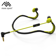 Esportes fone de ouvido projetado com corredores na mente e se encaixam em torno de para a parte de trás do pescoço, para dar um ajuste confortável em movimento
