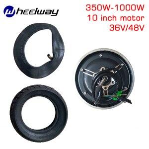 10 polegadas 36v48v350w-1000w tx motor elétrico scooter peças de vácuo pneu modificado roda sem escova conjunto do motor
