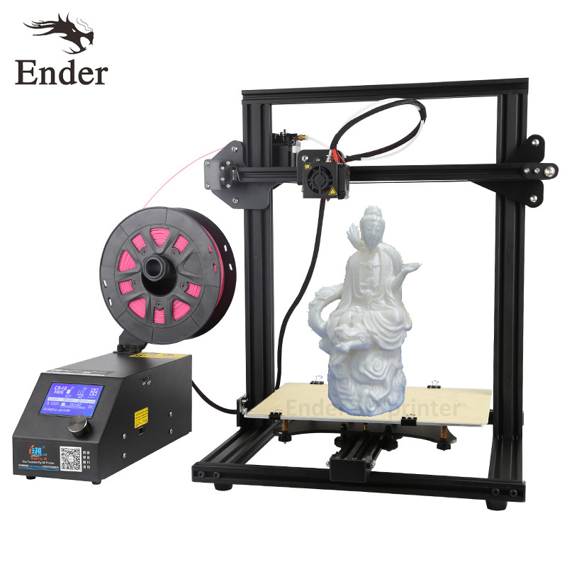 new updated version digital mini 3d printer fast prototyping machine kit 150 150 220mm print size and own software 2017 Easy Assemble CR-10 Mini 3D printer DIY KIT Continuation Print of power failure Large size Prusa i3 Printer 3D Creality 3D