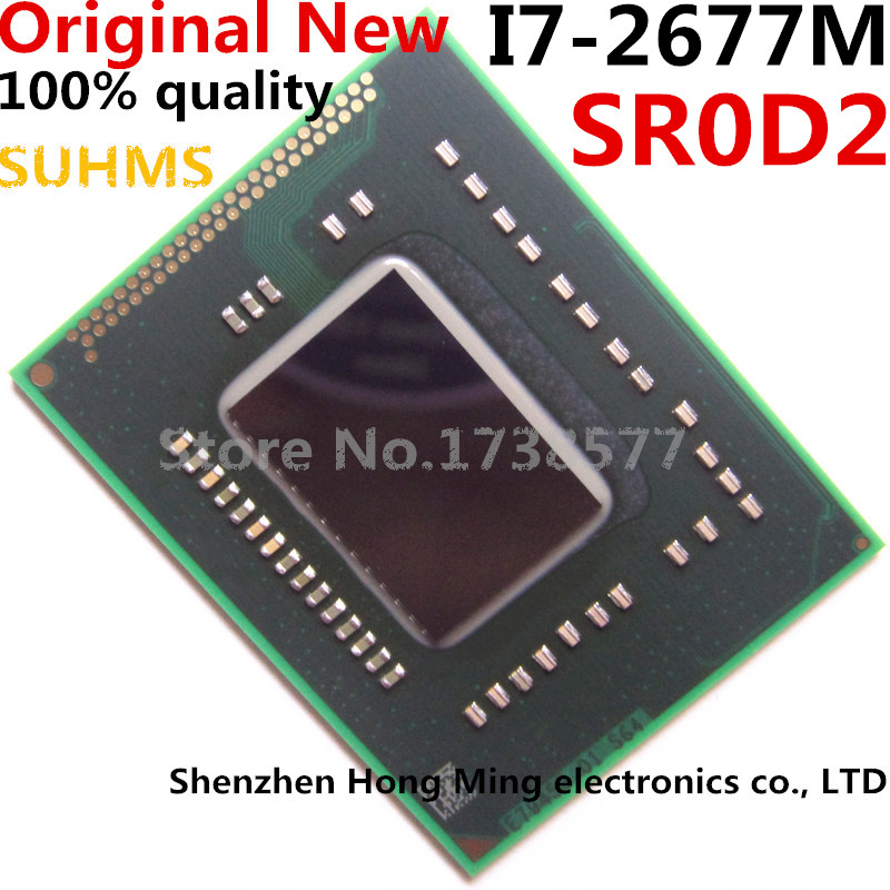 100% New I7-2677M SR0D2 I7 2677M BGA Chipset