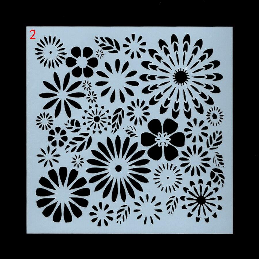 US $0 7 OFF 13 Cm Bunga Matahari DIY Layering Stensil Lukisan Dinding Scrapbook Mewarnai Embossing Album Dekoratif Kartu Template