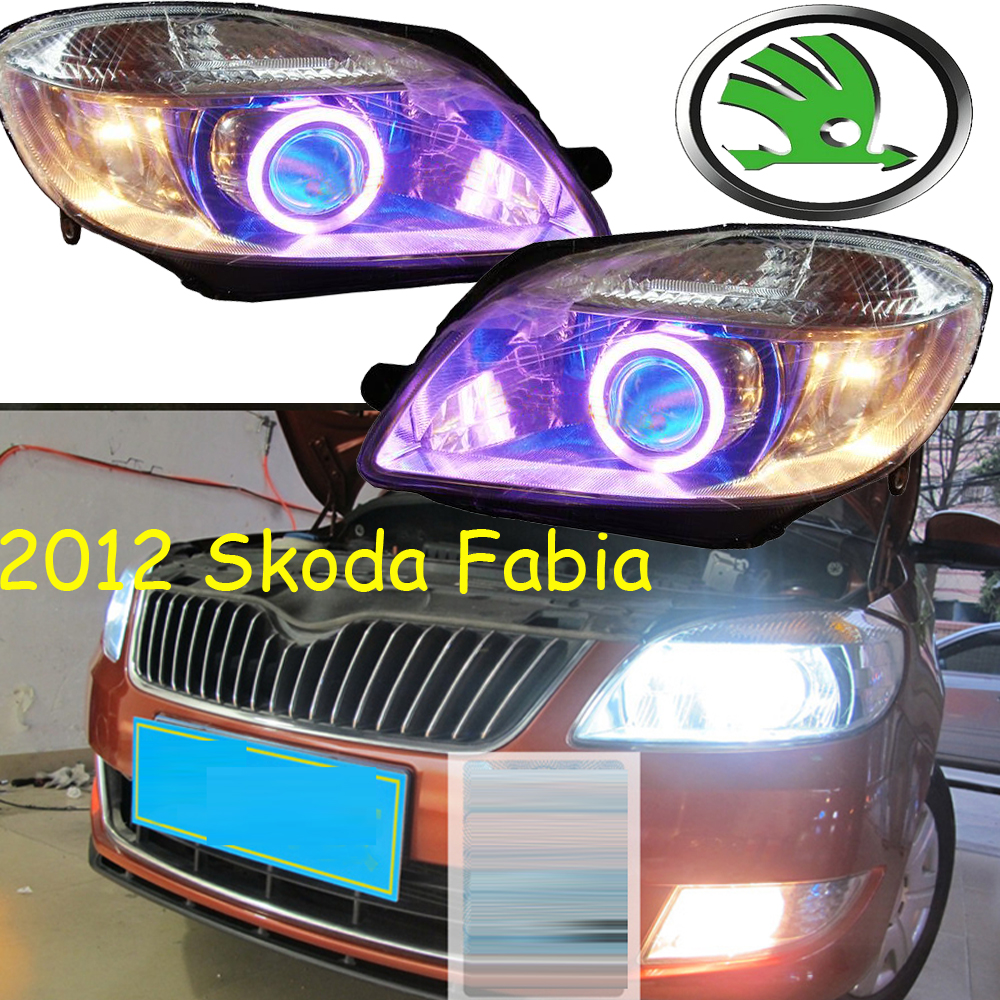 car-styling! Fabia headlight,2012,Free ship!chrome,Fabia fog light,chrome,LED,Yeti,Rapid,Fabia fabia greenline в украине