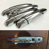 8Pcs ABS Exterior Car Side Door Handle Cover With Smart Key Hole Handle Bar Cover Catch
