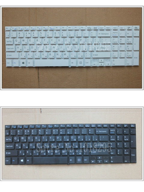 Russian RU Keyboard for Sony VAIO SVF152 SVF153 SVF152C29M SVF1541 SVF1521K1EB SVF1521P1R SVF1521V6E White black Laptop keyboard