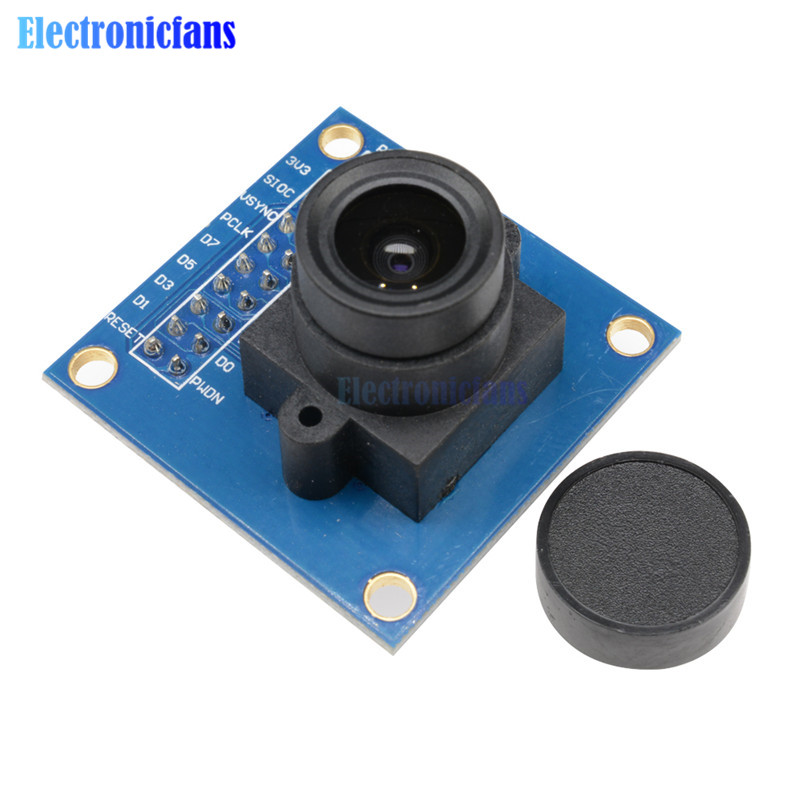 OV7670 300KP Camera Module Supports VGA CIF 640X480 Auto Exposure Control Display Compatible I2C Interface for Arduino DIY KIT