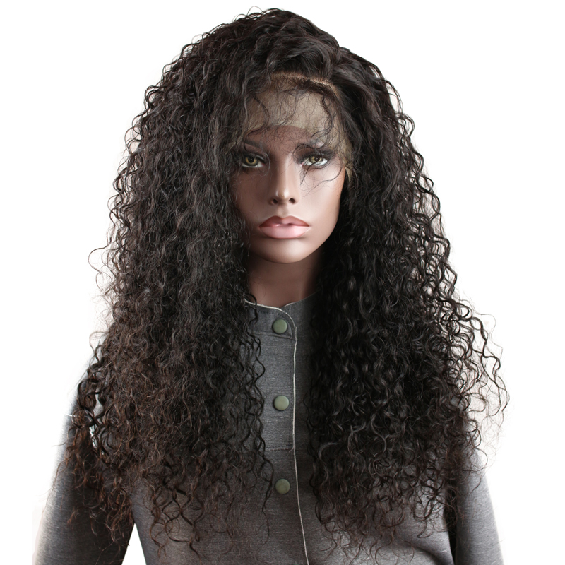 Eseewigs Deep Curly 150 Density Human Hair Full Lace Wigs With Baby Hair Pre Plucked Brazilian Remy Human Hair Wigs Bleach Knots ...