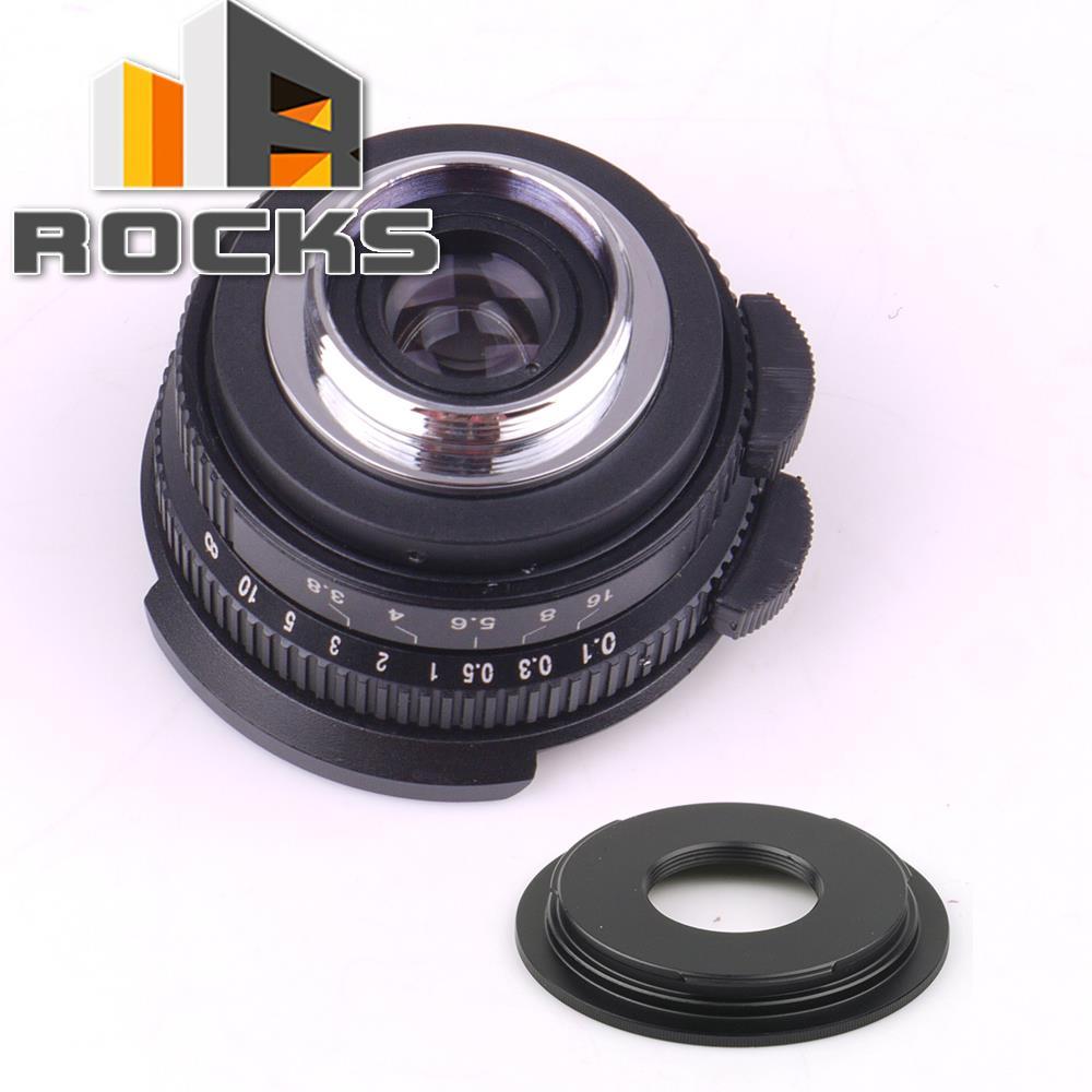 8mm F3.8 Fish eye CC TV Lens For C Mount Camera + C to Micro M4/3 / NEX / N1 / Pentax Q /Fuji / M M2 Adapter For Olympus Camera