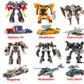 Преобразование 4 Автомобилей Роботы Фигурки Классические детей игрушки для мальчиков juguetes Brinquedos для подарков Игрушки