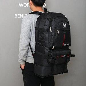 Image 5 - 70L impermeabile unisex degli uomini zaino pacchetto di viaggio sport bag pack Outdoor Arrampicata Alpinismo Escursionismo Campeggio zaino per il maschio