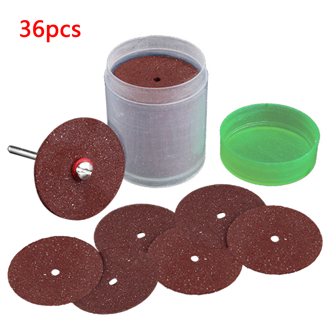 Abrasive Sanding Disc Tools 36Pcs Cutting Disc Circular Saw Blade Grinding Wheel For Dremel Rotary Tool Cutting Wood Metal