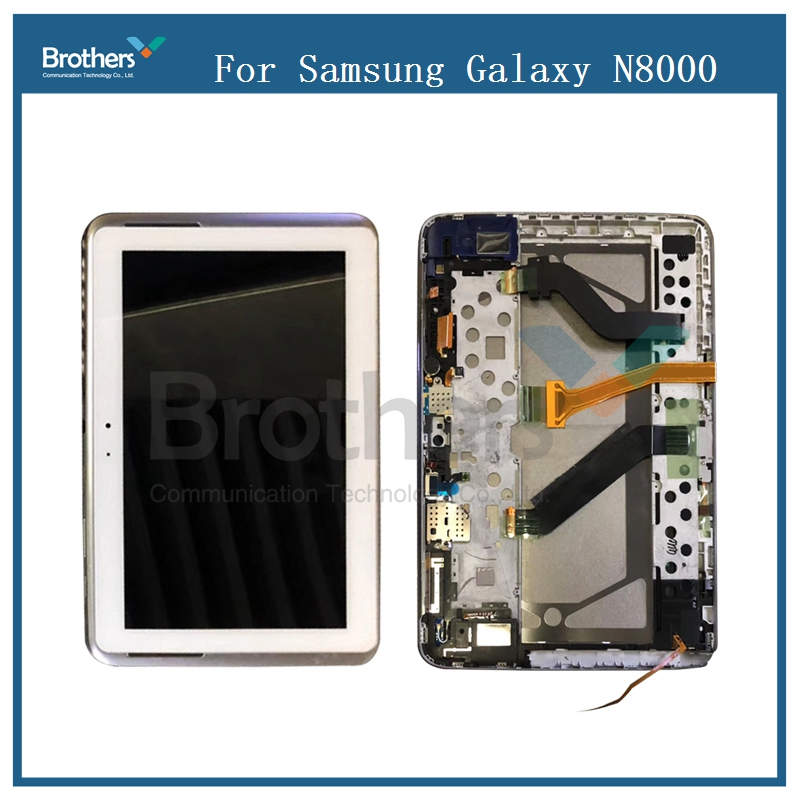 купить For Samsung Galaxy Tab 10.1 N8000 N8010 LCD Display With Frame Touch Screen Digitizer Sensor Assembly N8000 LCD Replalcement по цене 3926.86 рублей