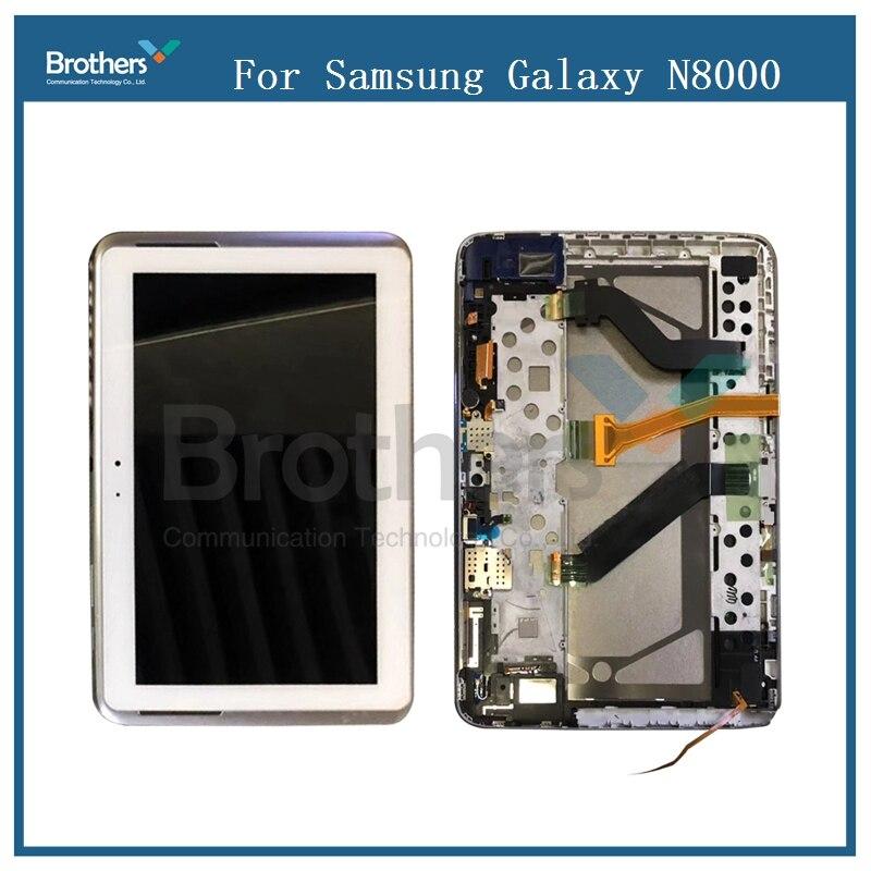 Per Samsung Galaxy Tab 10.1 N8000 N8010 Display LCD Con Touch Screen Digitizer Telaio Assemblea Sensore N8000 LCD Replalcement