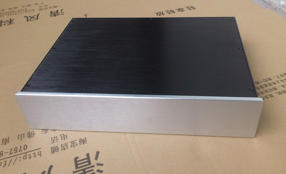 BZ4309M All Aluminum Chassis DIY Power <font><b>Amplifier</b></font> Case <font><b>Pre</b></font>-Amp Enclosure <font><b>Audio</b></font> Amp Box 430MM*90MM*360MM image