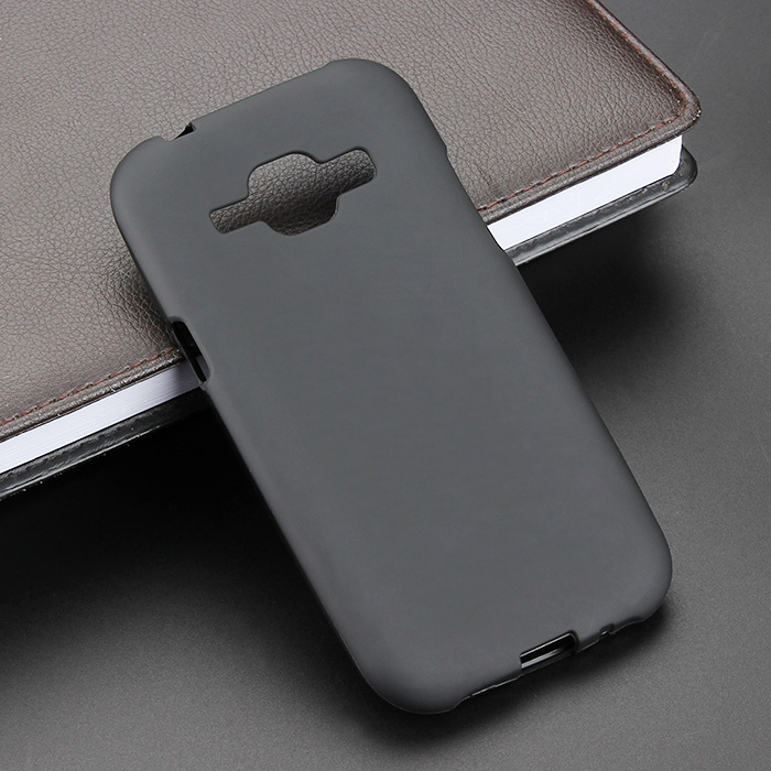 Black Gel TPU Slim Soft Anti Skiding Case Back Cover For <font><b>Samsung</b></font> <font><b>Galaxy</b></font> <font><b>J1</b></font> <font><b>J100</b></font> <font><b>2015</b></font> Phone Rubber silicone Bag Coque Fundas image
