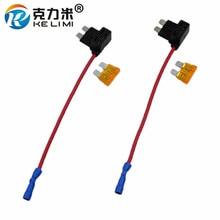 Medium Small Micro Mini 2 Fuse Box Holder Auto Car Standard Blade Cutout Socket Adapter (10pcs)