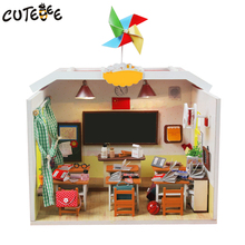 CUTEBEE Doll House Miniature DIY Dollhouse With Furnitures Wooden House Toys For Children Birthday Gift Home