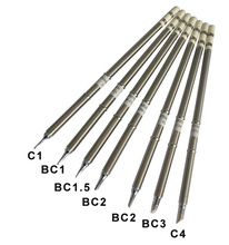 Gudhep T12 Welding Tips T12-BC1 BC1.5 BC2 BC3 C1 C4 Soldering Iron Tips for Hakko FM203 FX951 Soldering Rework Station