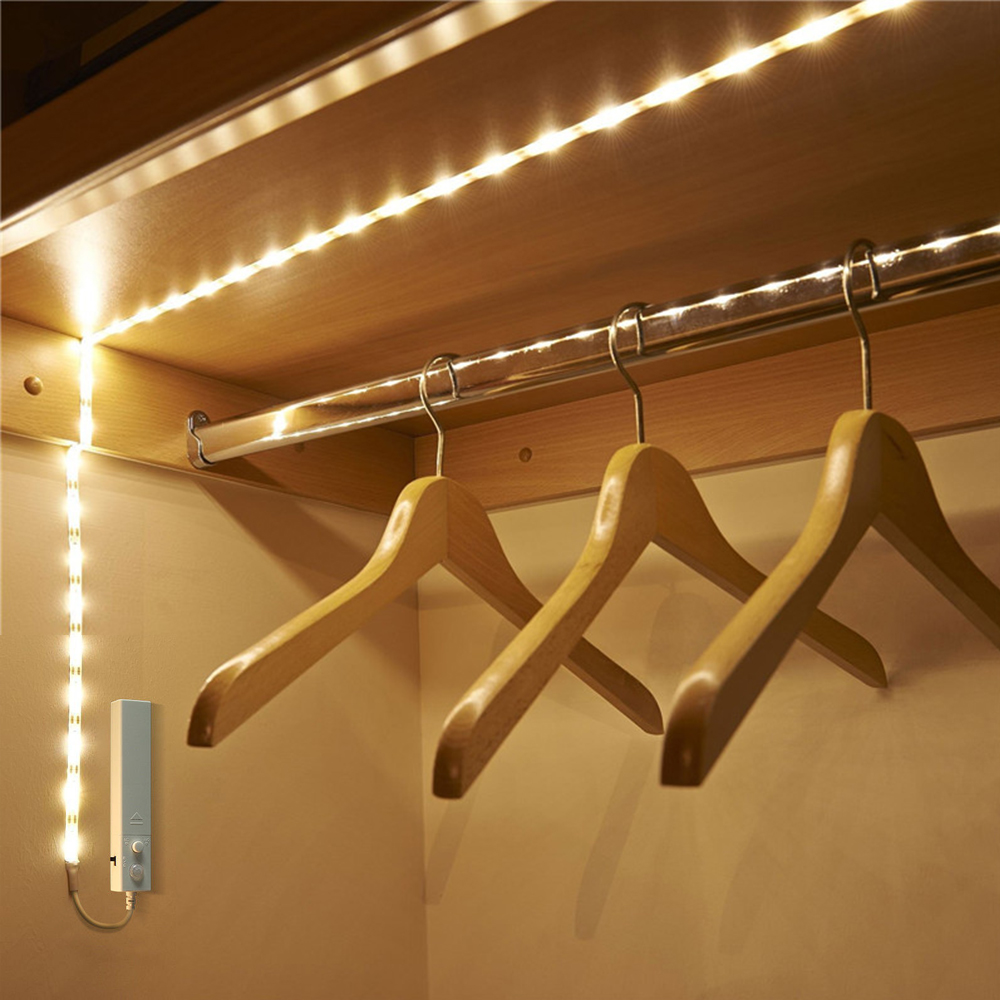 1M 30 Dual Mode LED Strip Motion Sensor LED Light Waterproof Strip Light Human Body Sensor lights Warm White